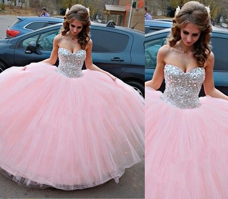 Pink Quinceanera Dress,Modest Ball Gown,Sequin Quinceanera Dress ...